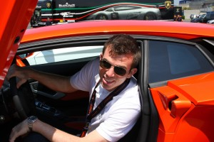 Ed in the Aventador