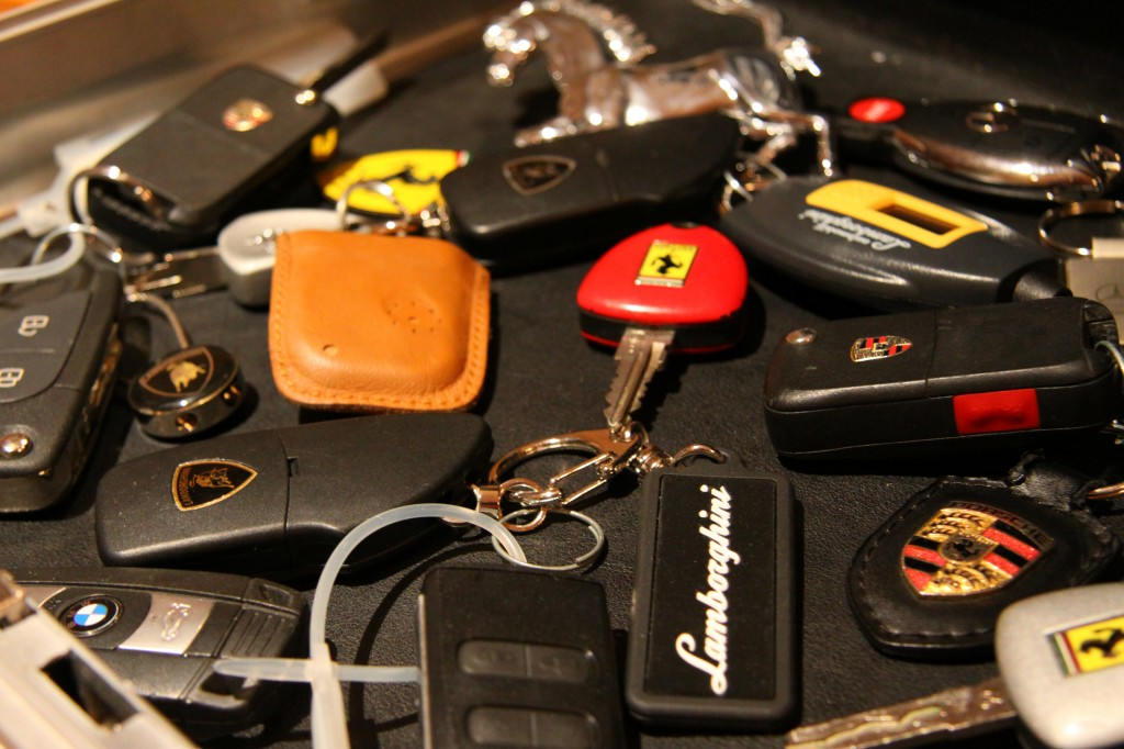 Assortment of Exotic Car Keys