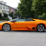 Orange Lamborghini Murcielago Roadster