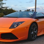 Pearl Orange Murcielago Roadster
