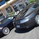 Quantum Silver Aston Martin Rapide and V8 Vantage Roadster