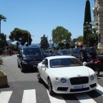 Bentley Continental GT V8 in white
