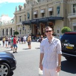 Ed in front of the Grand Hotel