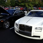 White and Black Rolls Royce Ghosts