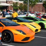 Orange Lamborghini Murcielago LP640 at Caffeine & Octane