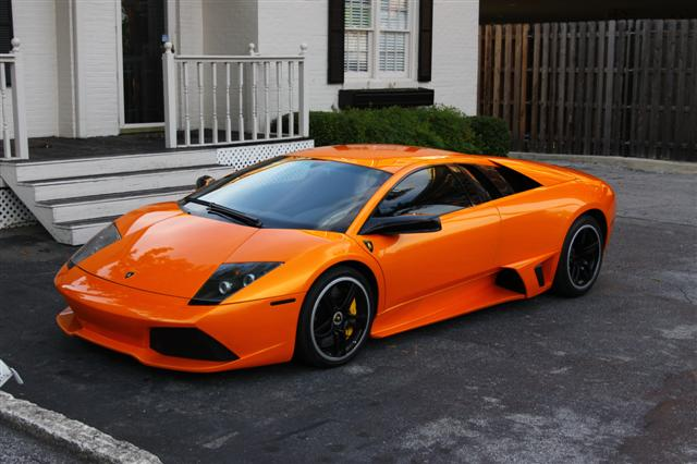 2013 Lamborghini Murcielago orange | Driving in Line