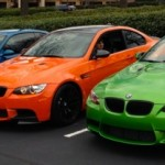 Rainbow of BMW M3's including a Lime Rock Edition