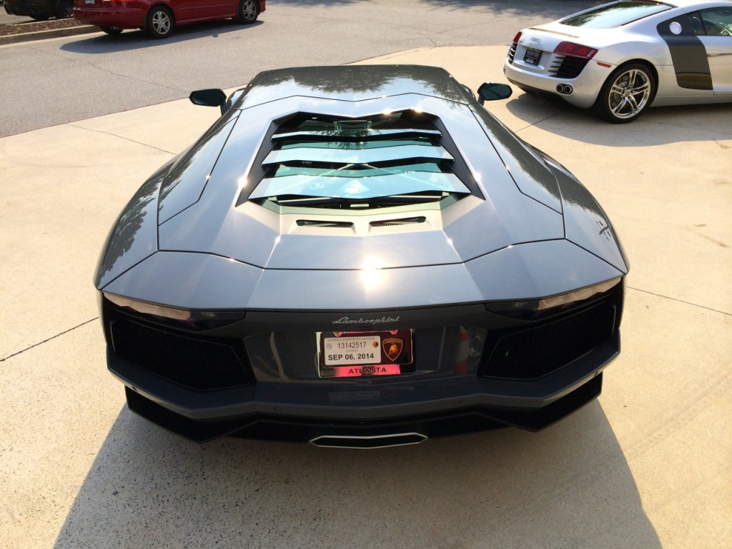 Lamborghini Aventador Transparent Engine Bonnet