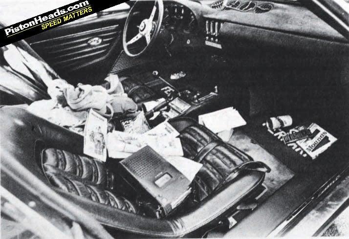 Brock Yates Dan Gurney Ferrari Daytona Cannonball Run Cockpit