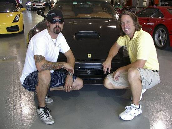 Richard Rawlings and Dennis Collins Cannonball Record Ferrari Picture