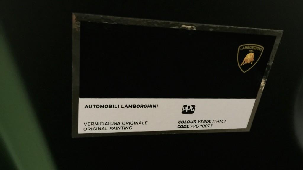Lamborghini Verde Ithaca PPG Paint Code