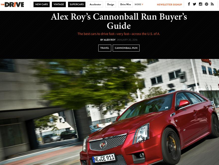 Alex Roy the Drive