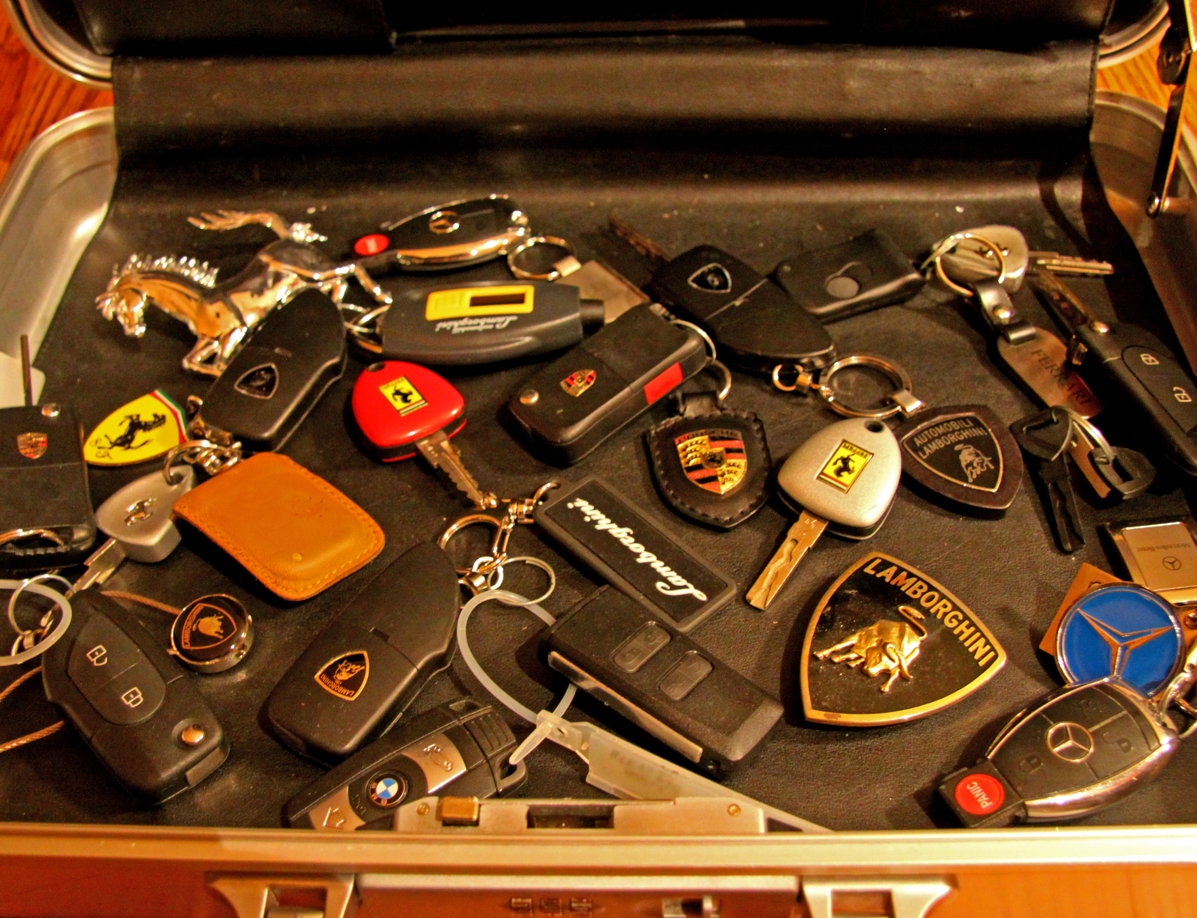 Exotic Car Key Collection