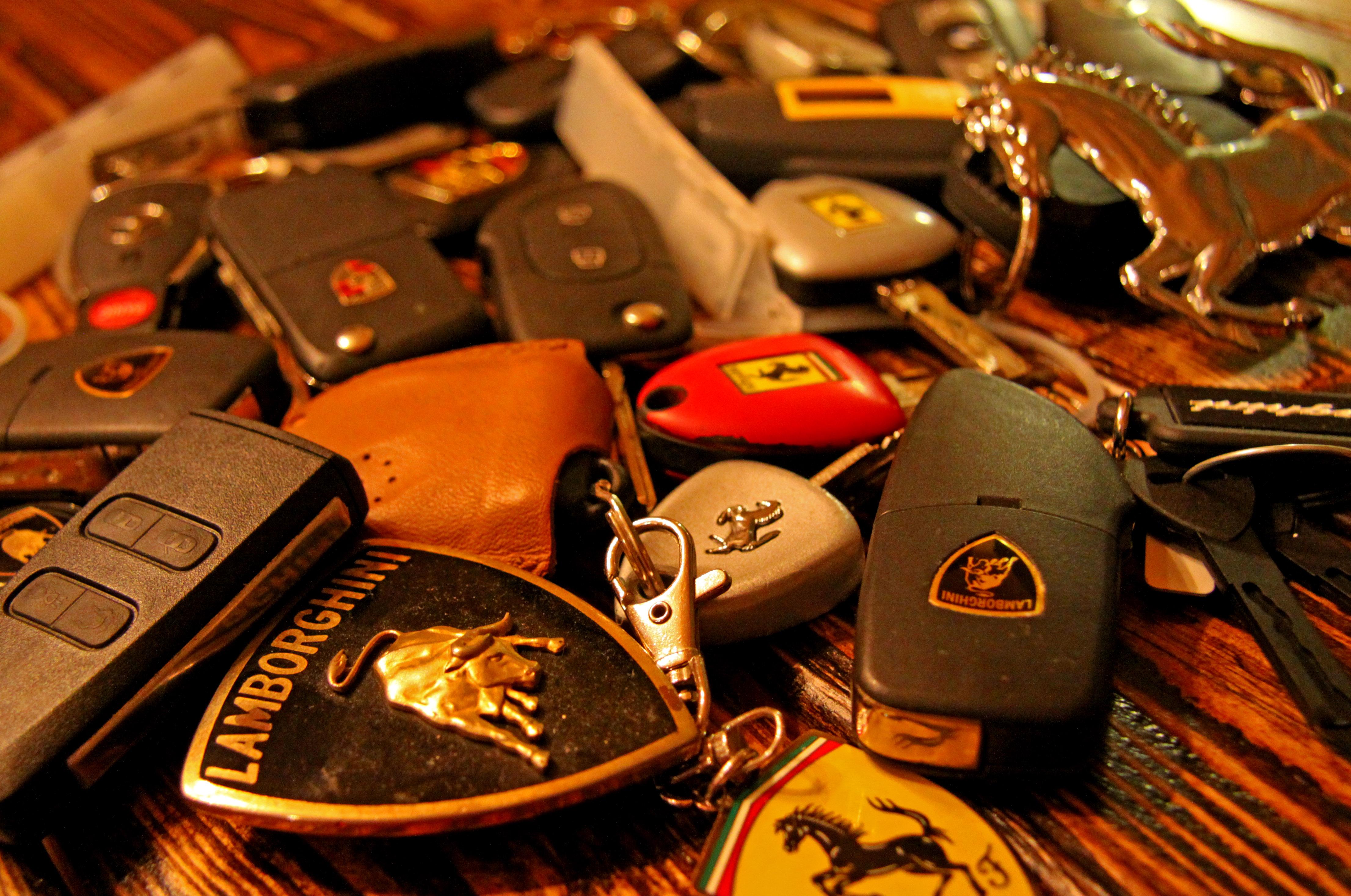 Handfull of Exotic Car Keys