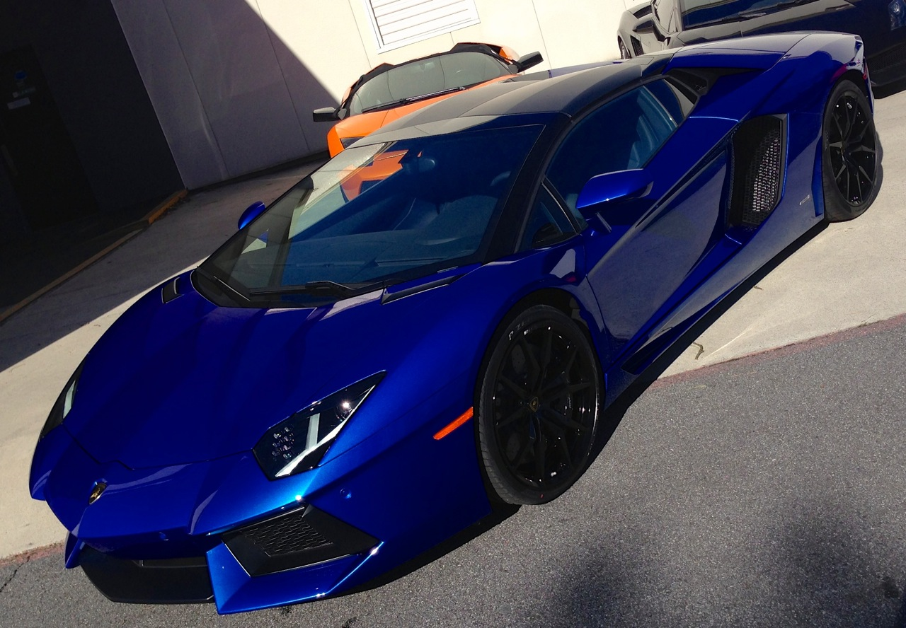 Just Delivered Monterey Blue Blu Nethuns 2014 Lamborghini