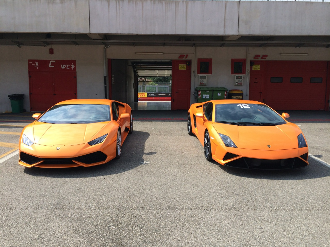 2014 Lamborghini Huracan And 2014 Lamborghini Gallardo LP560 4 Final  Edition In Arancio Borealis