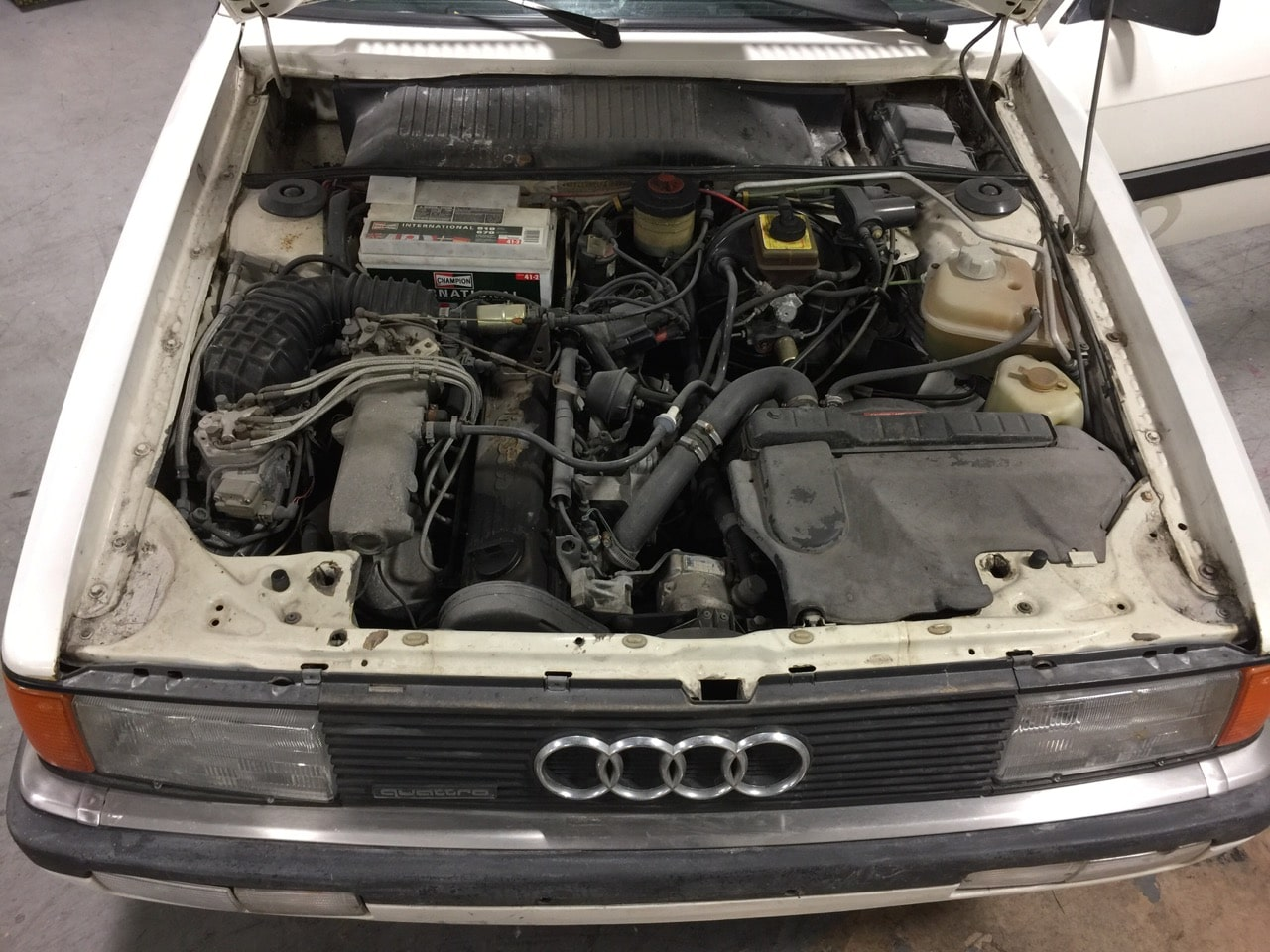 1985 Audi 4000s Engine The Car 4000cs Fuse Box Diagram 86 Ed S History Quattro Brock Yates Cannonball