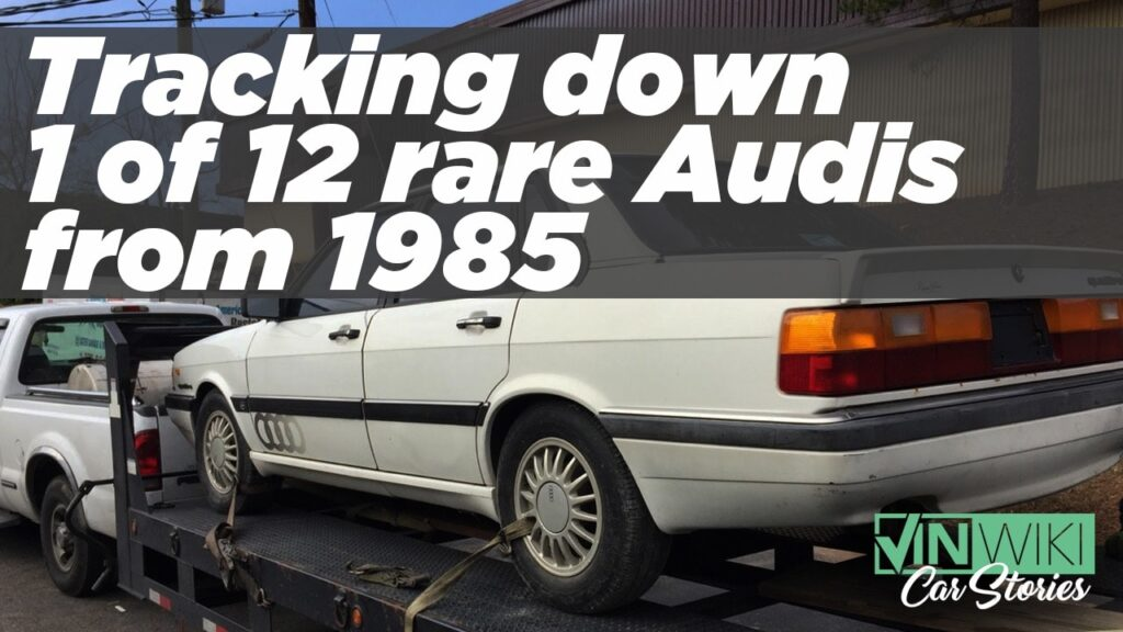 VINwiki Car Stories Tracking Down The Yates Cannonball Audi Ed - Audi car tracker